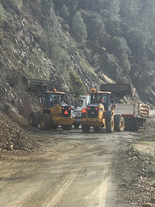 Mudslide on Highway 299 in Trinity County