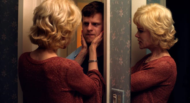 "This image released by Focus Features shows Nicole Kidman, left, and Lucas Hedges in a scene from ""Boy Erased."" Activists urging more states to ban gay conversion therapy for minors are expecting major gains in 2019, thanks to midterm election results and the buzz generated by well-reviewed films ""The Miseducation of Cameron Post"" and ""Boy Erased."" (Focus Features via AP)"