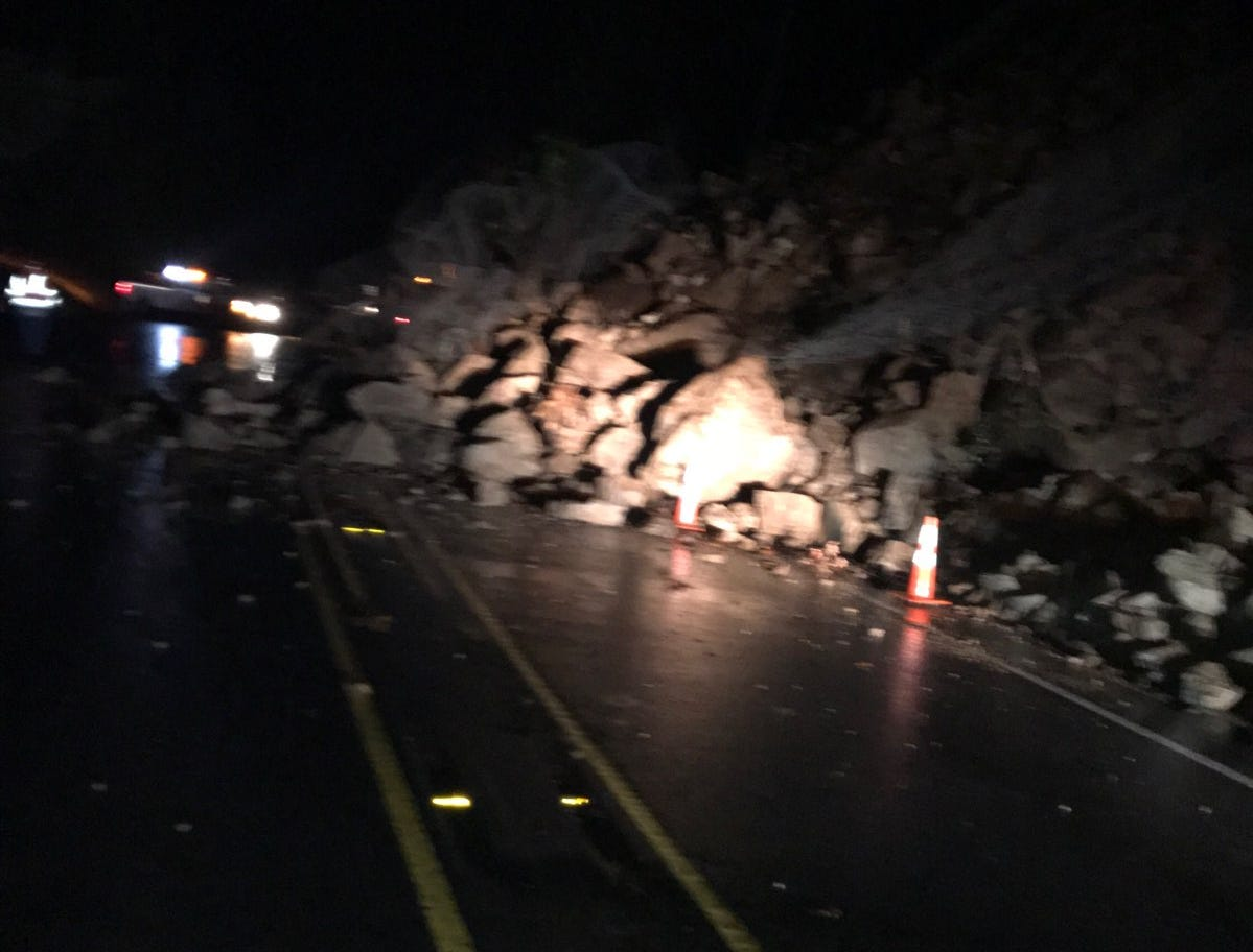 A rockslide that took place Friday night has closed Oregon Highway 22 at Detroit as of Saturday morning.