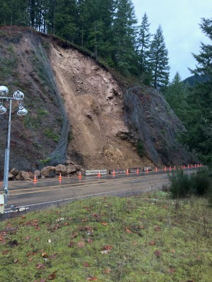 Highway 22 has reopened near Detroit after a rockslide was cleared.