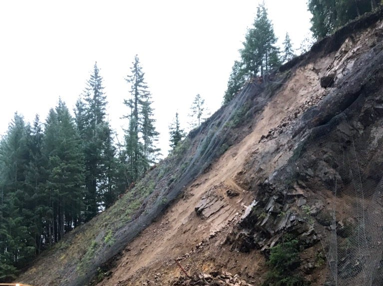 A rockslide has closed Oregon Highway 22 near Detroit as of this morning.