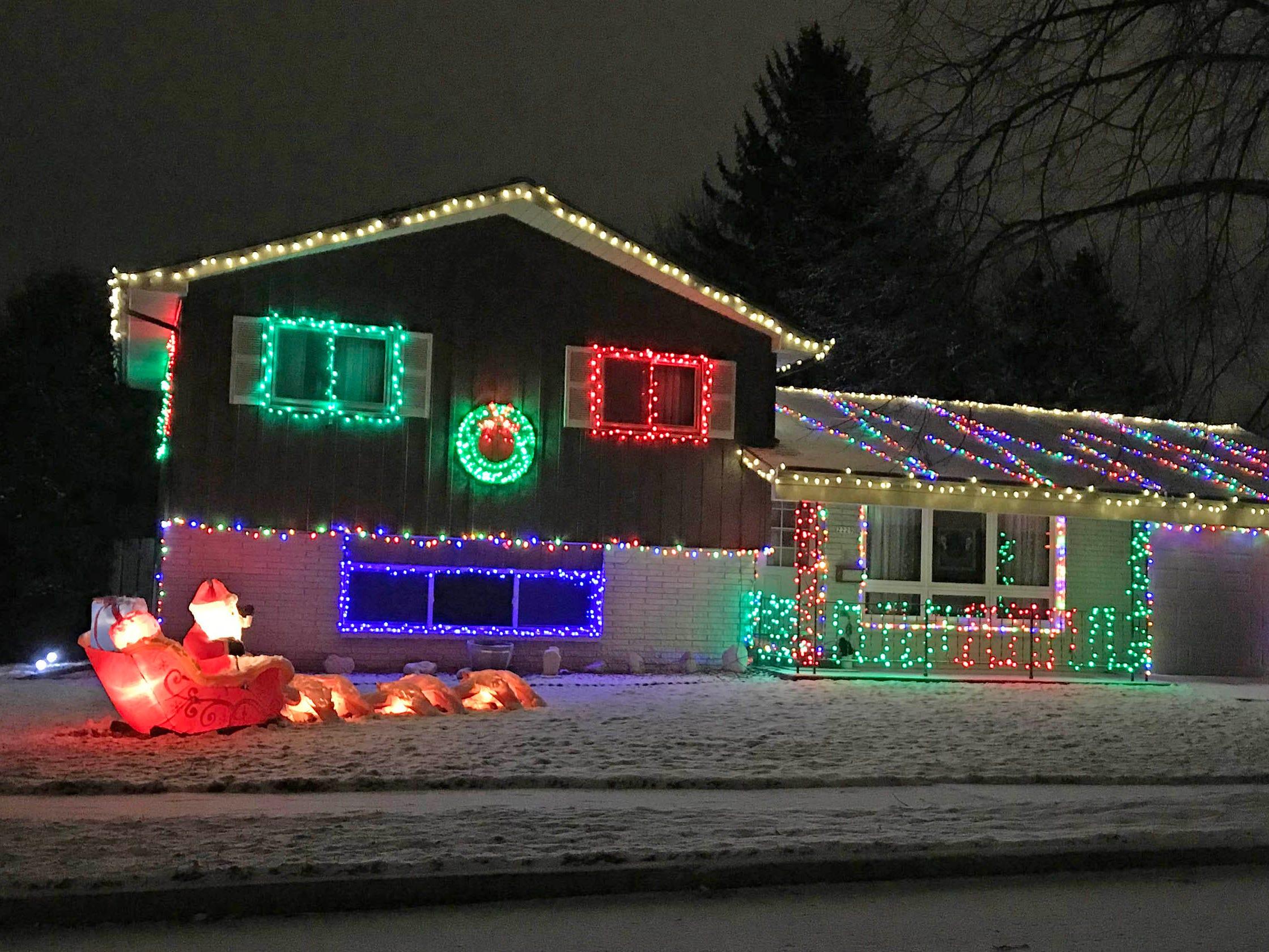 Holiday lights along North 24th Street, Saturday, December 29, 2018, in Sheboygan, Wis.