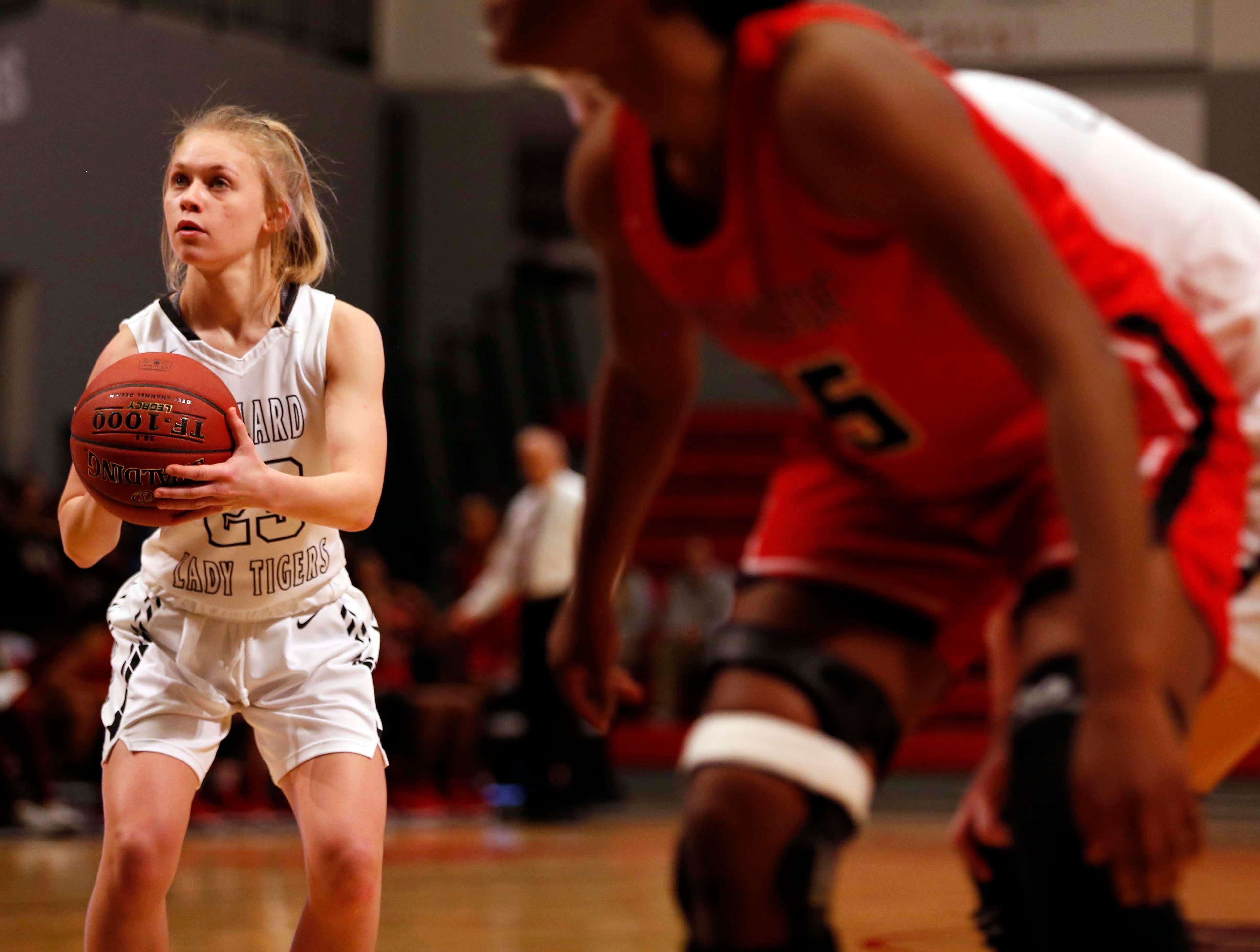 The Willard Lady Tigers against the Northside Fort Smith (Arkansas) Lady Bears at Drury University  on Dec. 29, 2018 during the Pink & White Lady Classic.