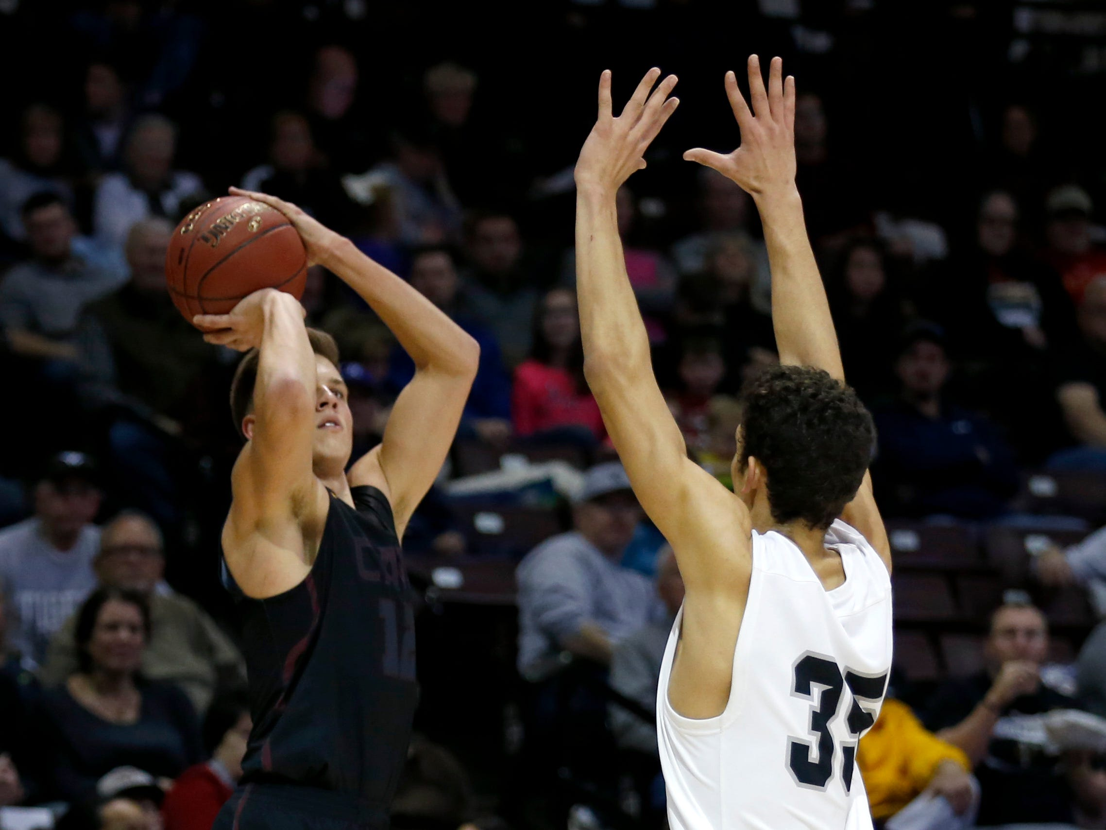 The Willard Tigers take on the Logan-Rogersville Wildcats in a semi-final Blue Division game during the 2018 Blue and Gold Tournament at JQH Arena on Friday, Dec. 28, 2018.