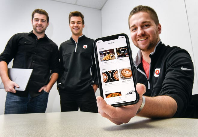 Bryant Bohlig, Austin Bohlig and Mitch Bebus describe Let's Go, a new dating and activity app Wednesday, Dec. 26. The app is set to launch Jan. 11 in St. Cloud.