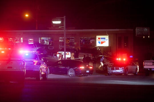 The St. George Police Department responds to a shooting at The One and Only Saturday, Dec. 29, 2018.