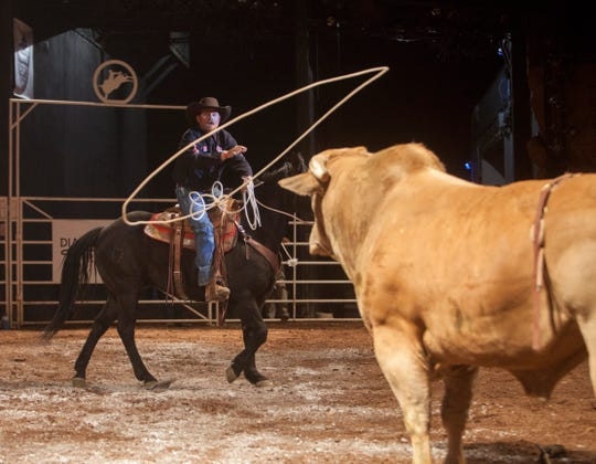 The Professional Bull Riders event at Tuacahn on Thursday, April 5, 2018.