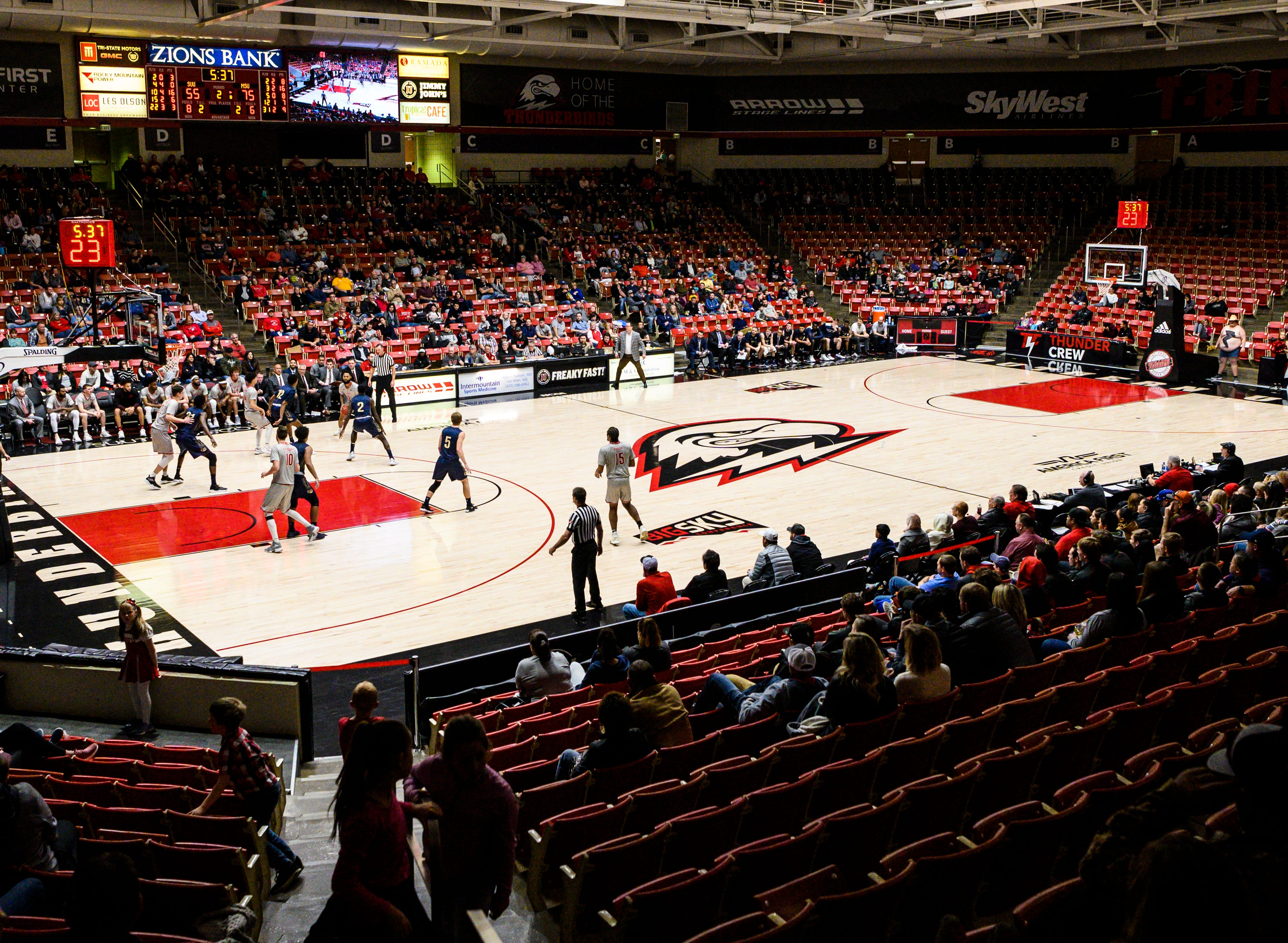 The Southern Utah University men's basketball team plays against Montana State in the America First Event Center Saturday, December 29, 2018.