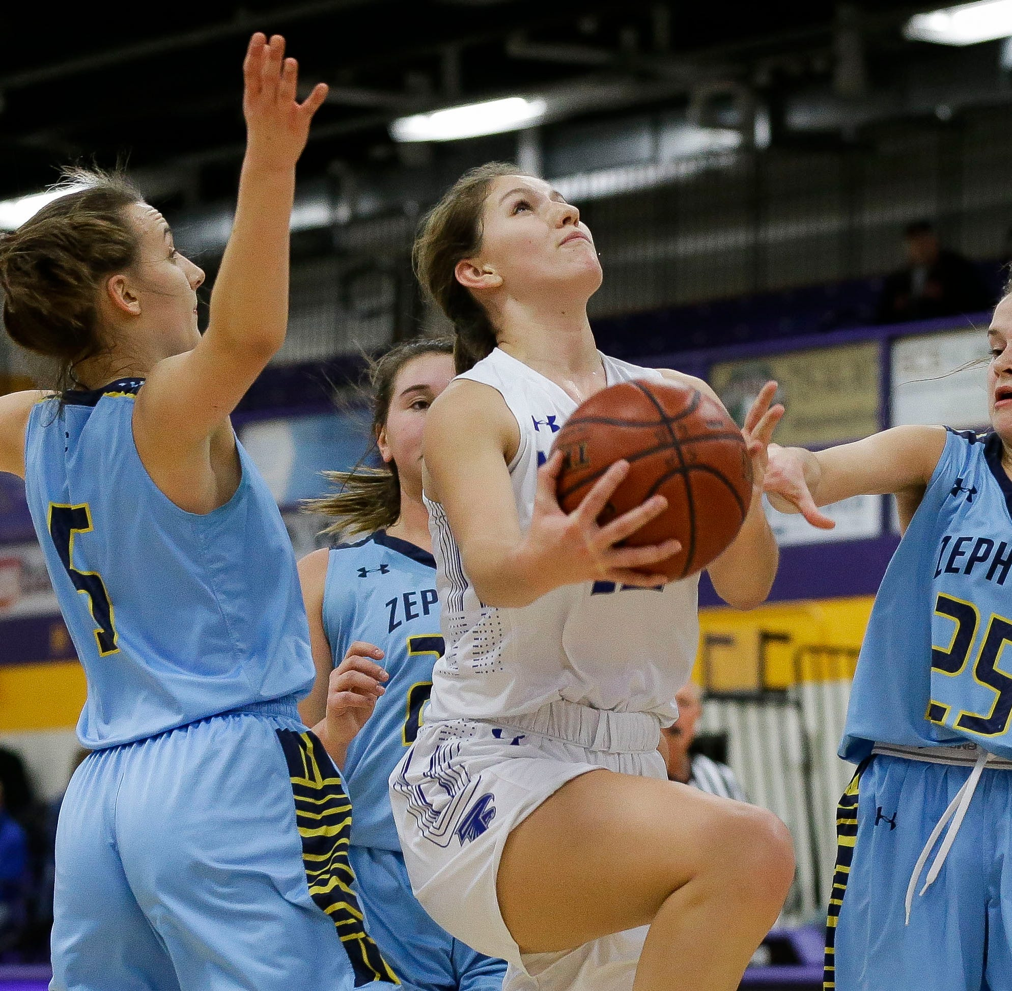 Girls basketball: No. 4 Amherst passes stern test from Saint Mary Catholic at Sentry Classic