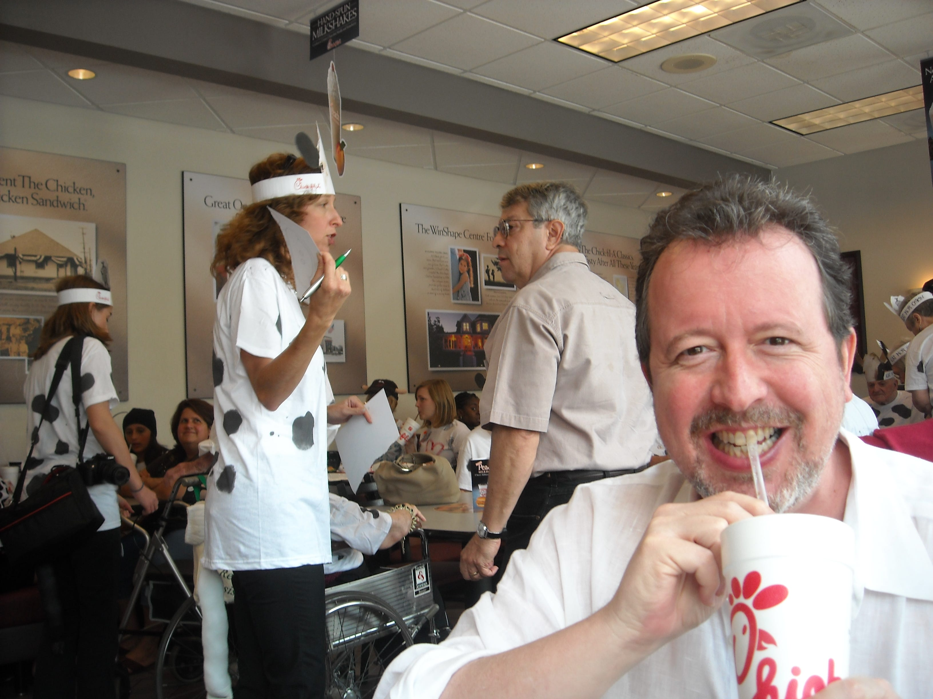 Democrat senior writer Mark Hinson was highly amused by the folks who turned out for Cow Appreciation Day at the Capital Circle NE Chick-fil-A.