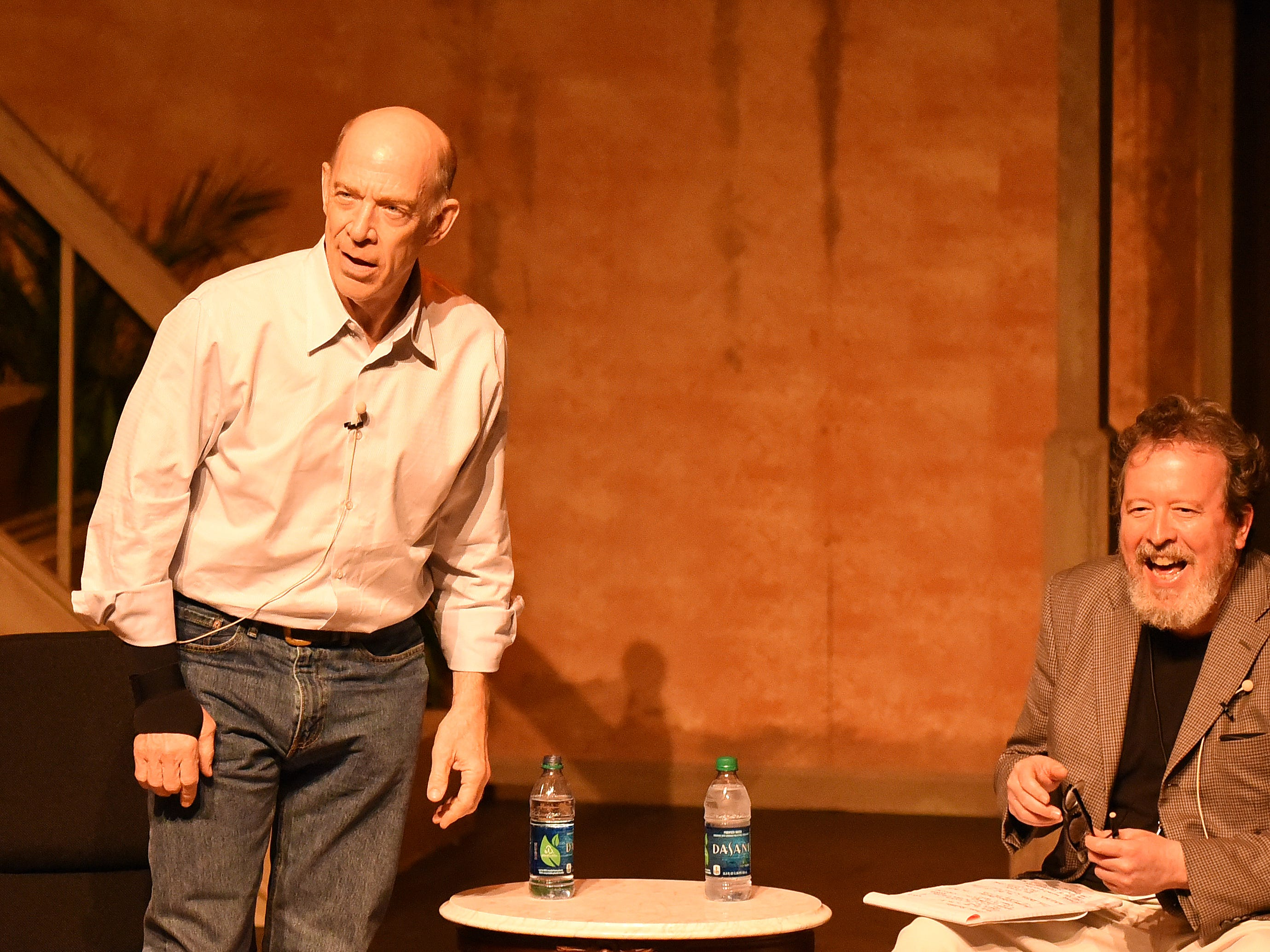 Mark Hinson interviews Oscar winner JK Simmons on stage at Theatre Tallahassee, as a fundraiser for the Symphony, and as part of Word South festival in 2015.
