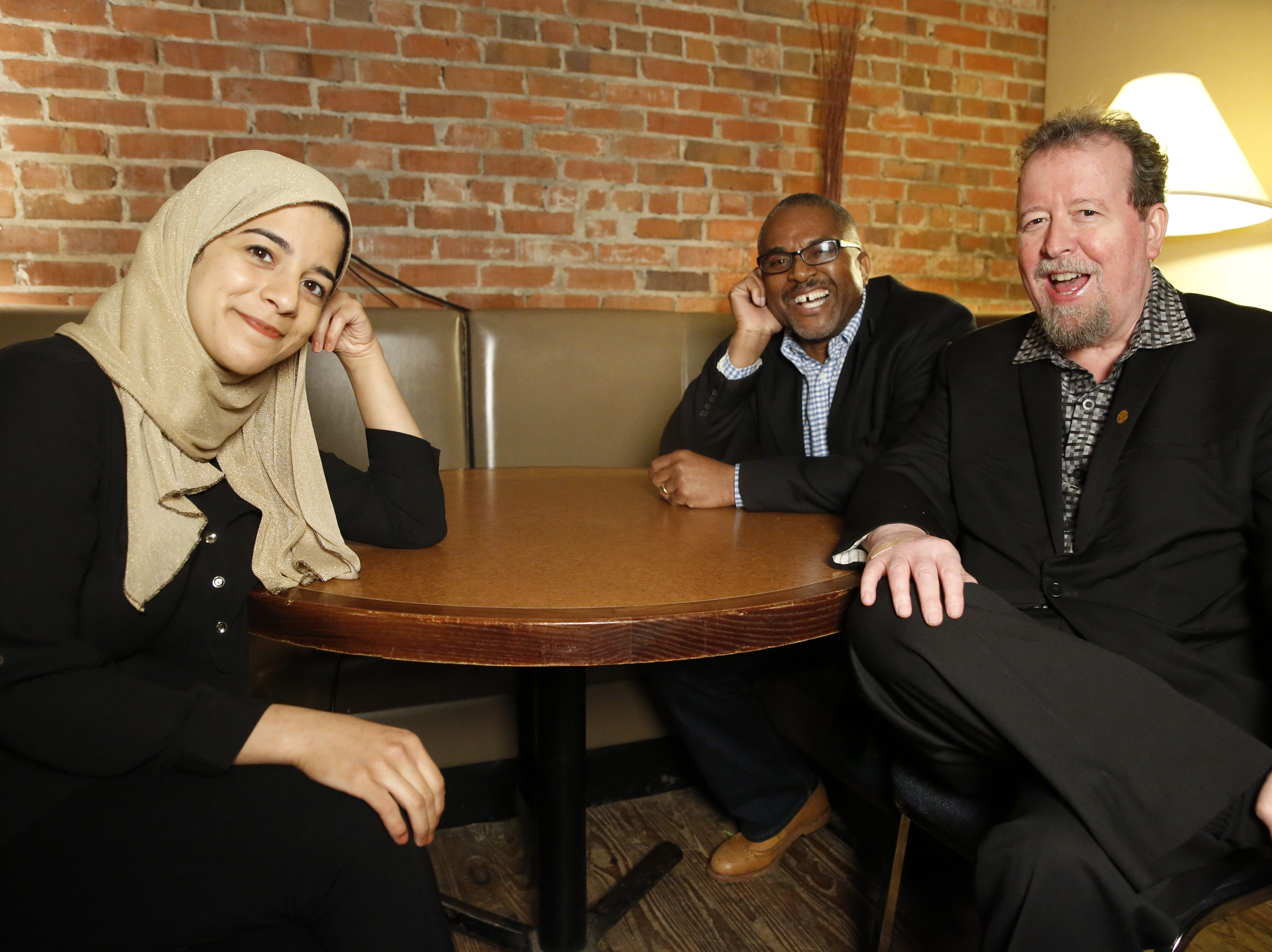Tallahassee Democrat journalists and storytellers Nada Hassanein, Andrew Skerritt and Mark Hinson told their own stories on stage at the Junction at Monroe during the Democrat's first Storytellers Project Jan 29.