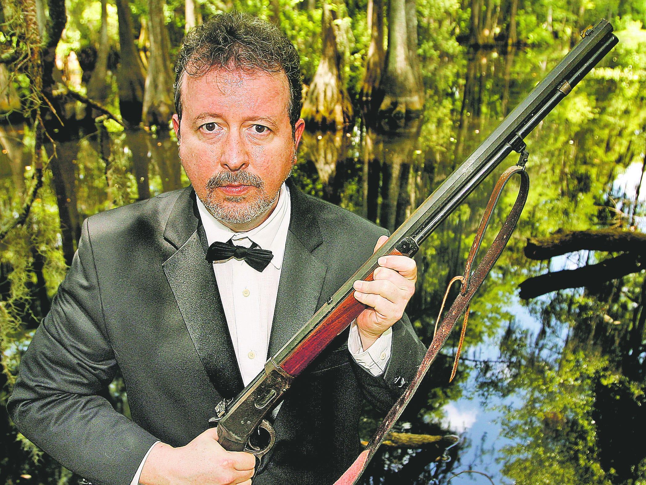 Mark Hinson isn't afraid of a gun or a swamp.