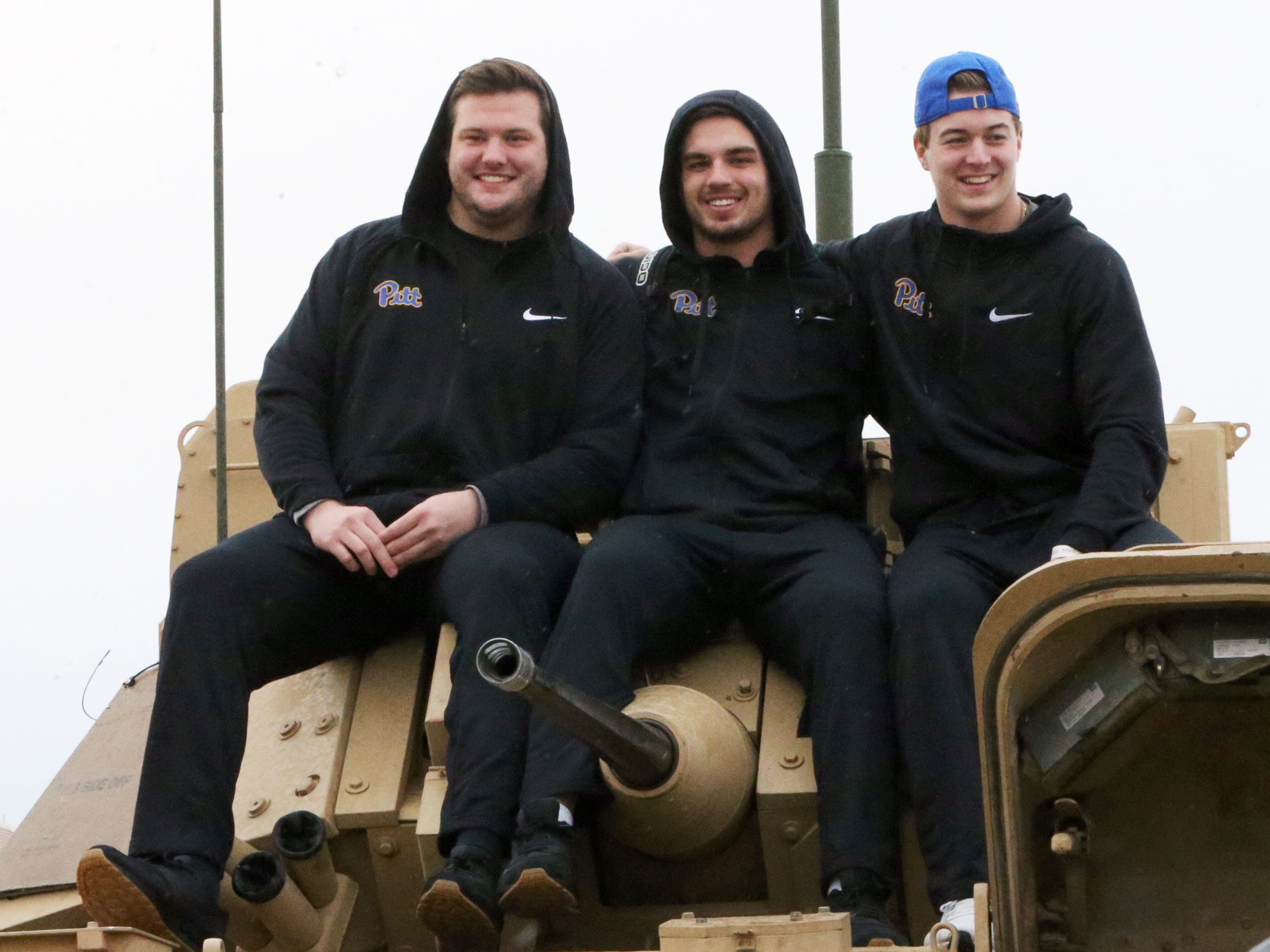 The University of Pittsburgh football team got up close to a Bradley Fighting Vehicle Friday at Fort Bliss.