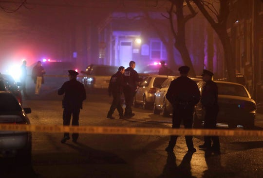 Wilmington police investigate after two people were reported shot at the intersection of W. 7th and Madison Streets about 8:15 p.m. Friday.