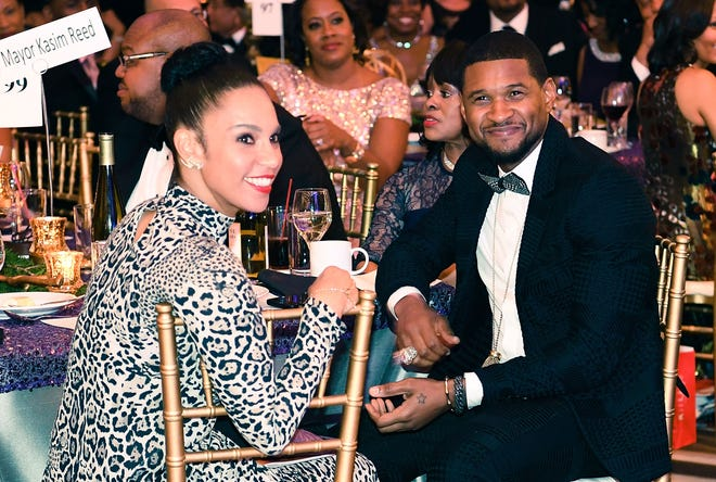Singer Usher, right, Friday filed for divorce from his wife of three years, Grace Miguel, according to news reports. The two had been separated.