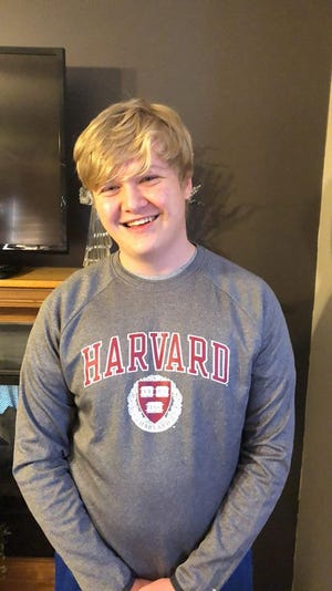 Braxton Moral is scheduled to receive a high school diploma from Ulysses High School and a bachelor's degree from Harvard in May.