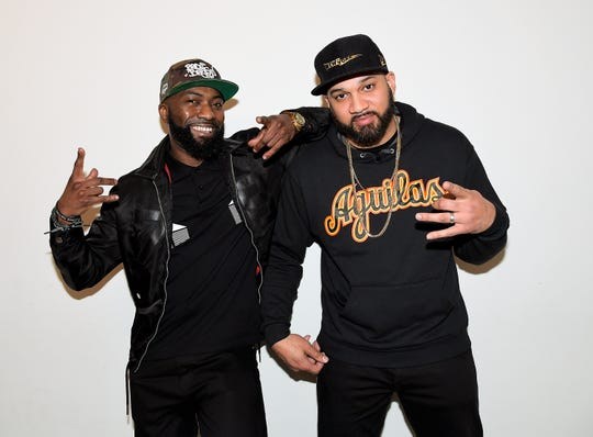 Desus Nice, left, and The Kid Mero are hosts of a new late-night talk show for Showtime.