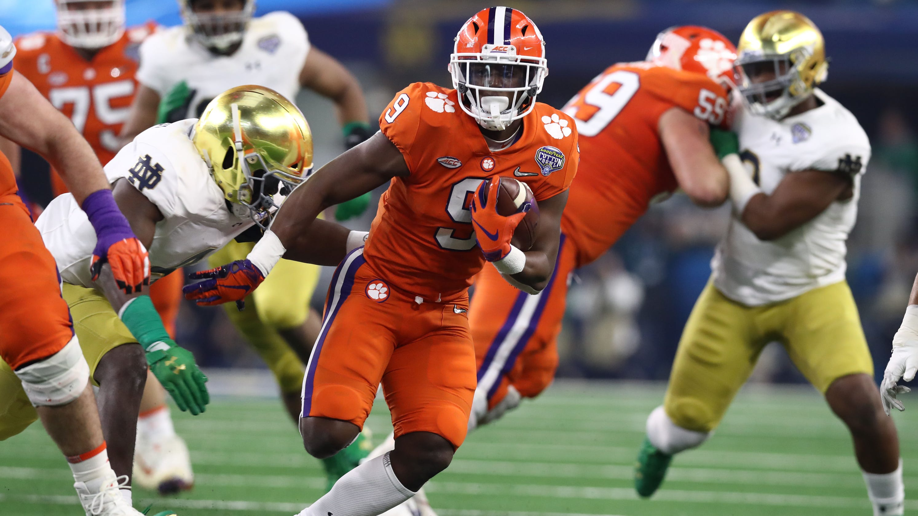 Cotton Bowl: Clemson, Notre Dame tied in College Football ...
