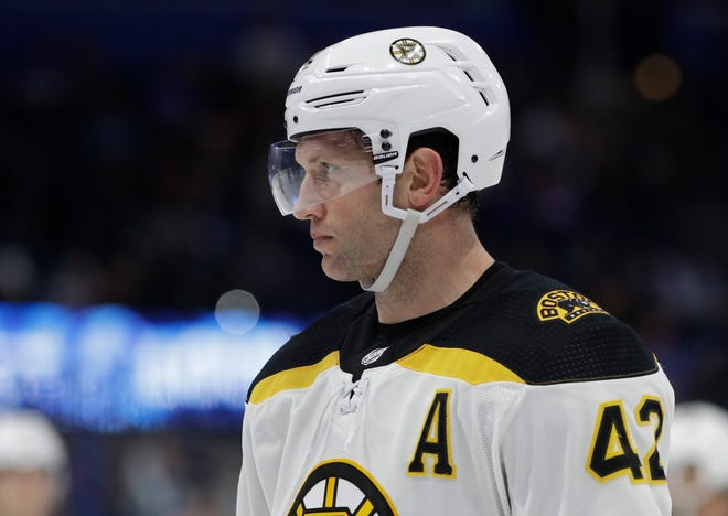 Boston Bruins right wing David Backes was suspended for three games for an illegal hit to the head.