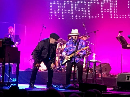Felix Cavaliere and Gene Cornish of the Rascals at the Count Basie Center in Red Bank on Dec. 29.