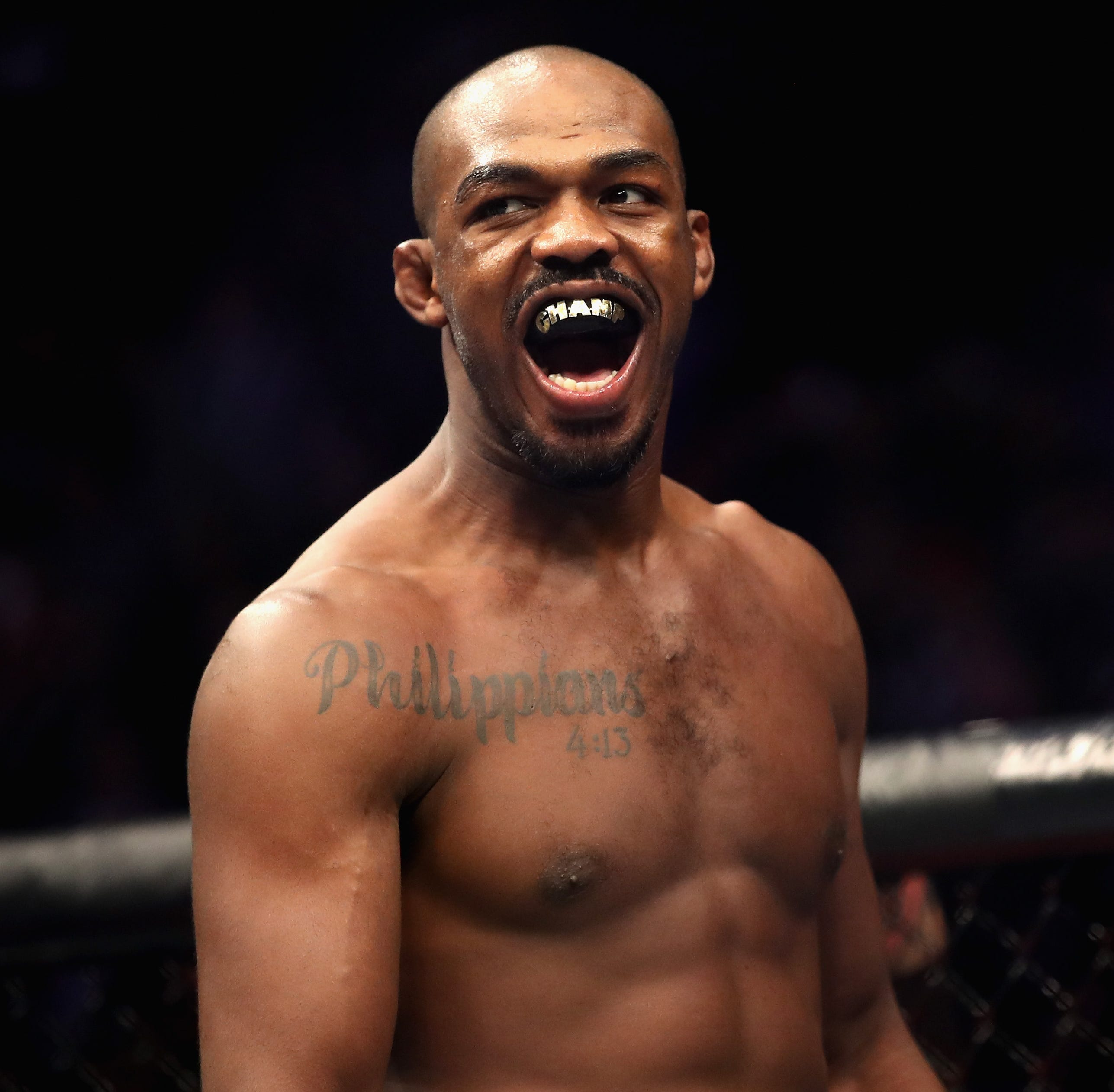 Watch UFC champion Jon Jones choke out a willing fan in Germany