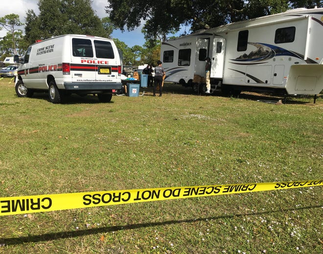 Police were investigating at the Wickham Park campground Sunday after a dead body was discovered inside a camping trailer.