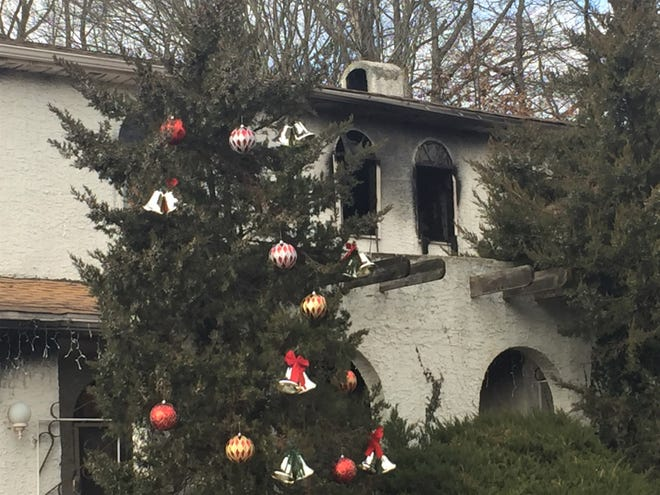 Fire heavily damaged a house on Hanover Avenue in Cherry Hill Saturday.