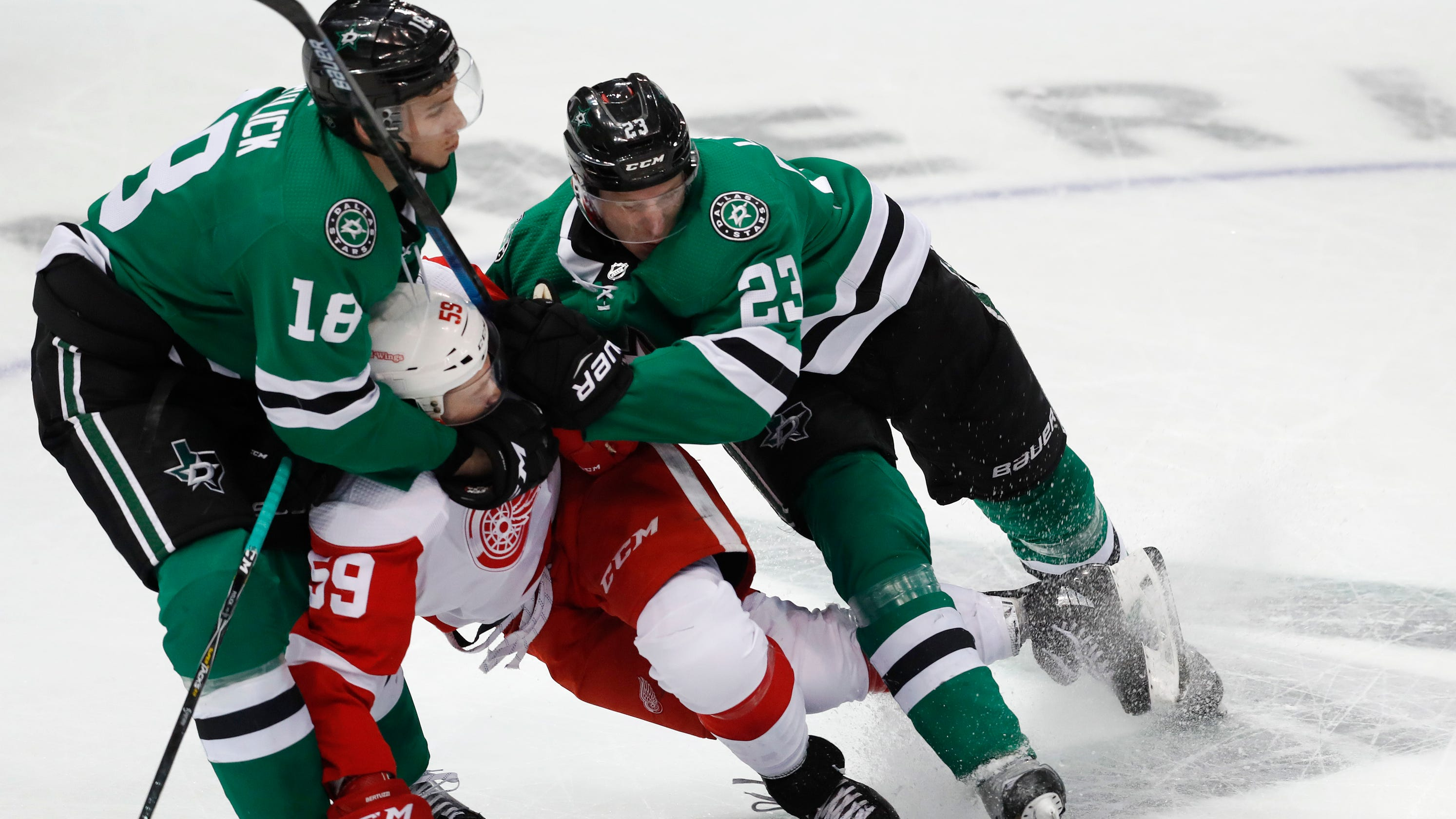 on sale 5ecaf 81fe6 Red Wings dismal in 8th loss in 9 games, 5-1 to Dallas Stars