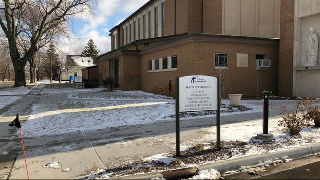 Mass was canceled at St. Patrick-St. Anthony Catholic Parish Church in Grand Haven after police say a man vandalized and put fireworks in the building.