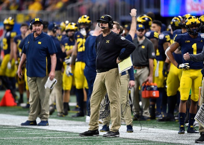 "Michigan head coach Jim Harbaugh after Saturday's loss: ""My feeling about the team is we're right there to the top, but we have to put it over the top. Especially in the big games at the end of the year."""