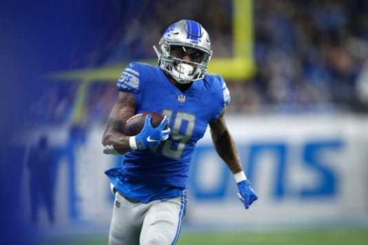 hot sale online f355d 233ce Detroit Lions will play season finale without Kenny Golladay