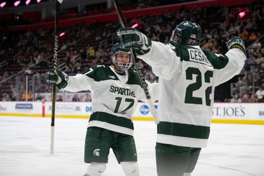best website ad672 3882d MSU's Taro Hirose, UM's Quinn Hughes named Hobey Baker finalists
