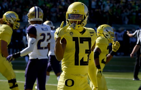 Oregon's Dillon Mitchell averages 112.9 yards a game.