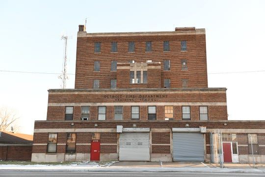 The former Detroit Fire Department training school building on West Warren and Lawton in Detroit on Dec. 30, 2018.