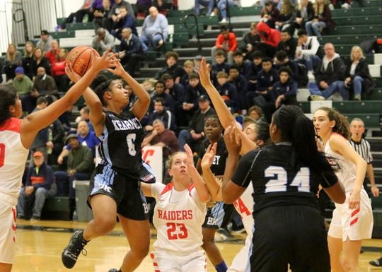 Bishop Kearney was a 69-43 winner over North Rockland in a girls semifinal at the Josh Palmer Fund Elmira Holiday Inn Classic on Dec. 29, 2018 at Elmira High School.