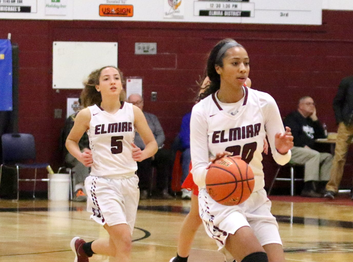 Elmira was an 80-58 winner over North Rockland in the girls third-place game at the Josh Palmer Fund Elmira Holiday Inn Classic on Dec. 30, 2018 at Elmira High School.
