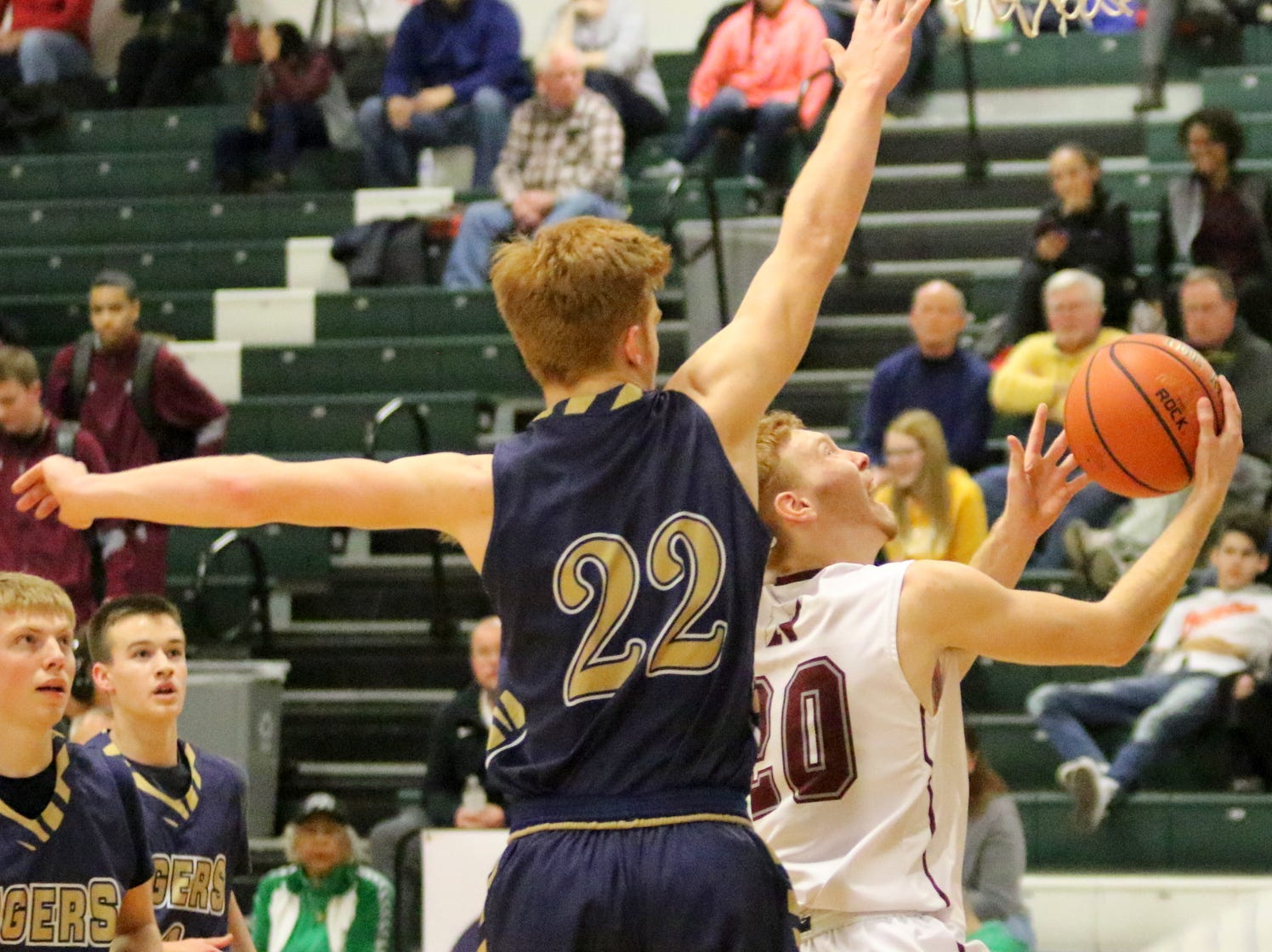 Newark was a 53-44 winner over North Penn-Mansfield in the boys Regional Division 1 championship game at the Josh Palmer Fund Elmira Holiday Inn Classic on Dec. 30, 2018 at Elmira High School.
