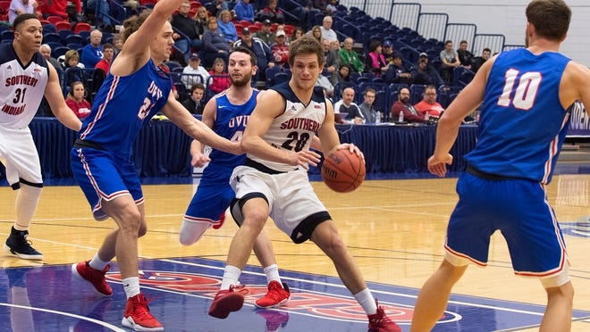 Alex Stein helped lead USI to an 83-74 win over Ohio Valley on Sunday in the Bill Joergens Memorial Classic.