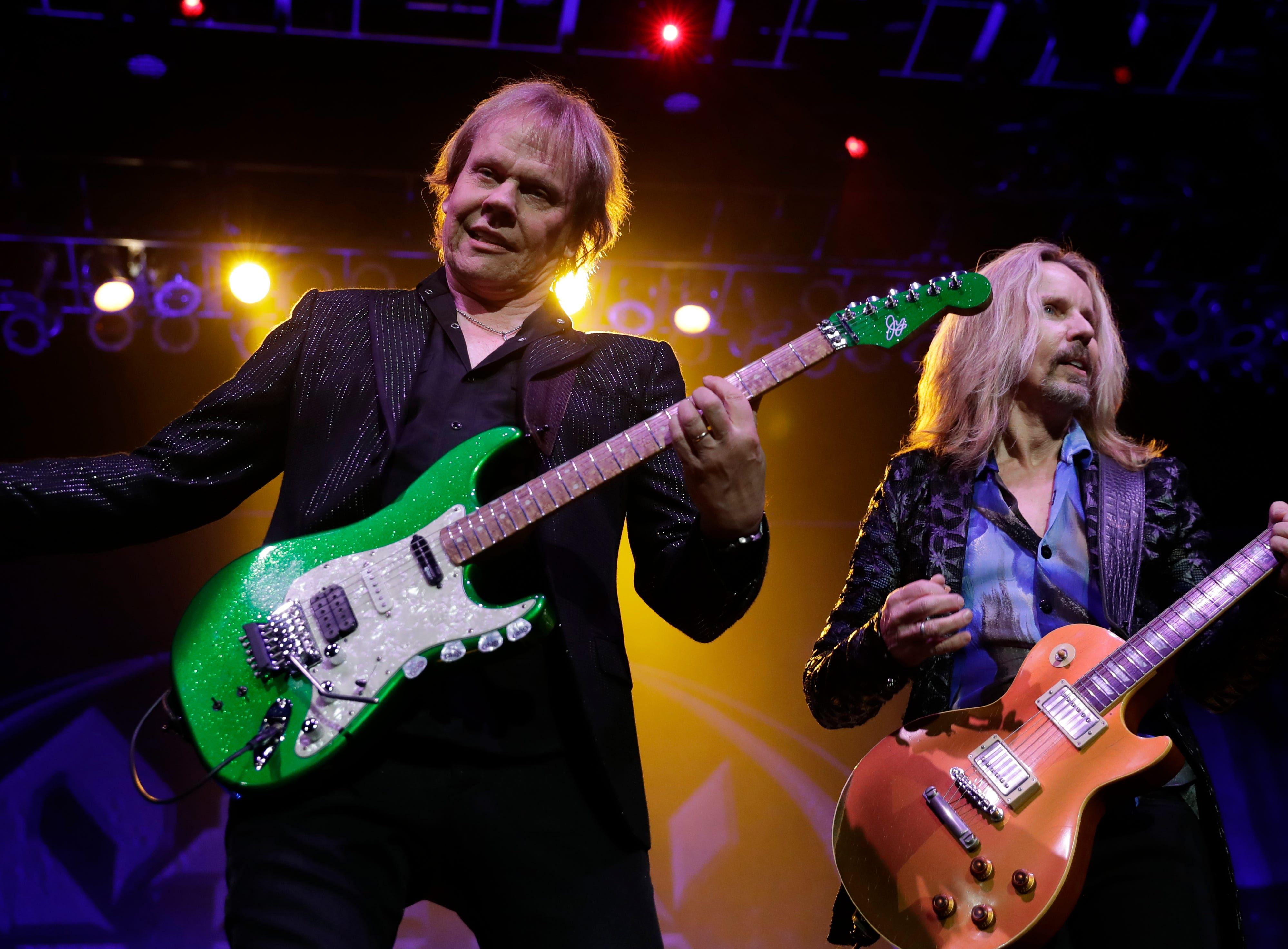 James Young and Tommy Shaw of Styx perform Dec. 29, 2018 at the Resch Center in Ashwaubenon, Wis.