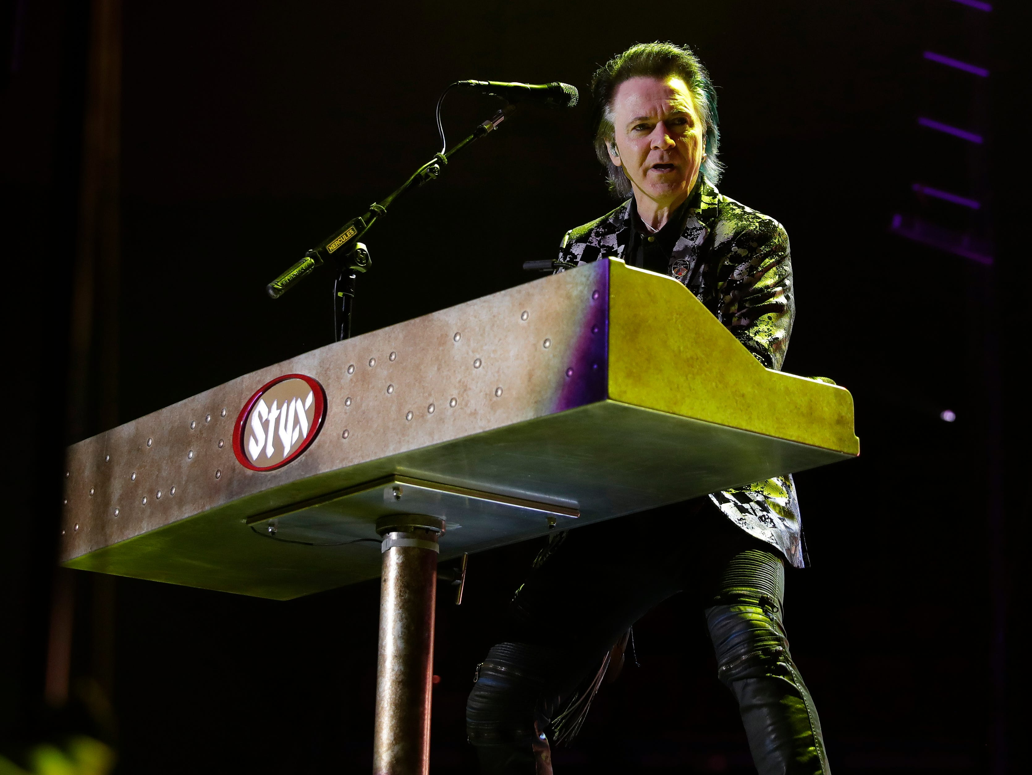 Lawrence Gowan of Styx performs Dec. 29, 2018 at the Resch Center in Ashwaubenon, Wis.