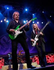 James Young and Ricky Phillips of Styx performs Dec. 29, 2018 at the Resch Center in Ashwaubenon, Wis.