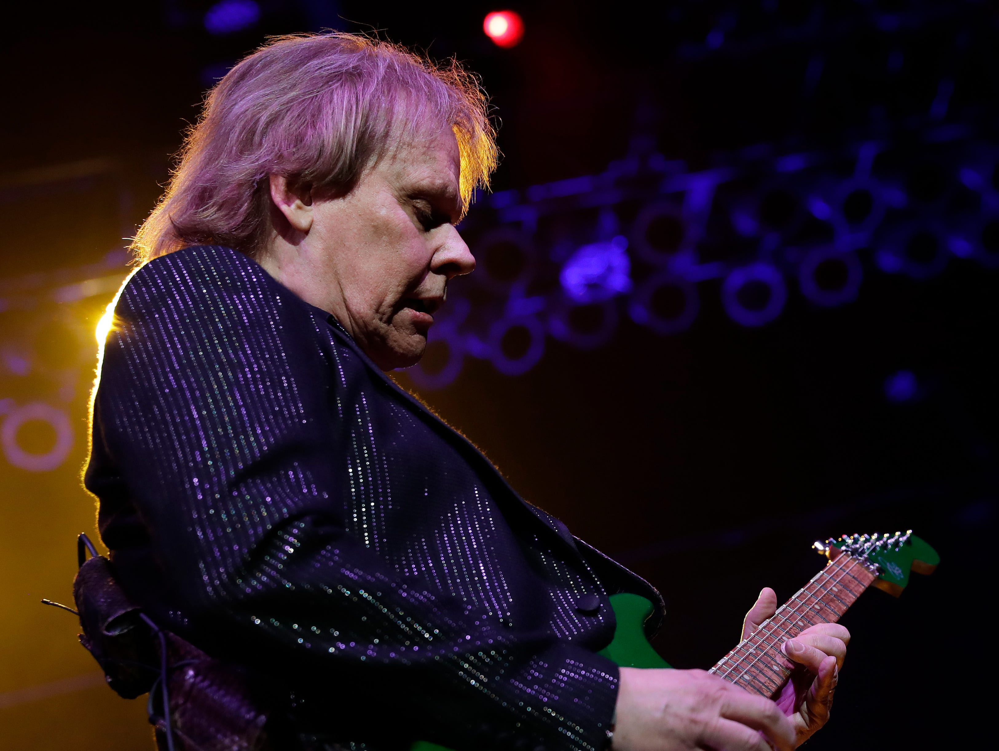 Styx band member James Young performs Dec. 29, 2018 at the Resch Center in Ashwaubenon, Wis.