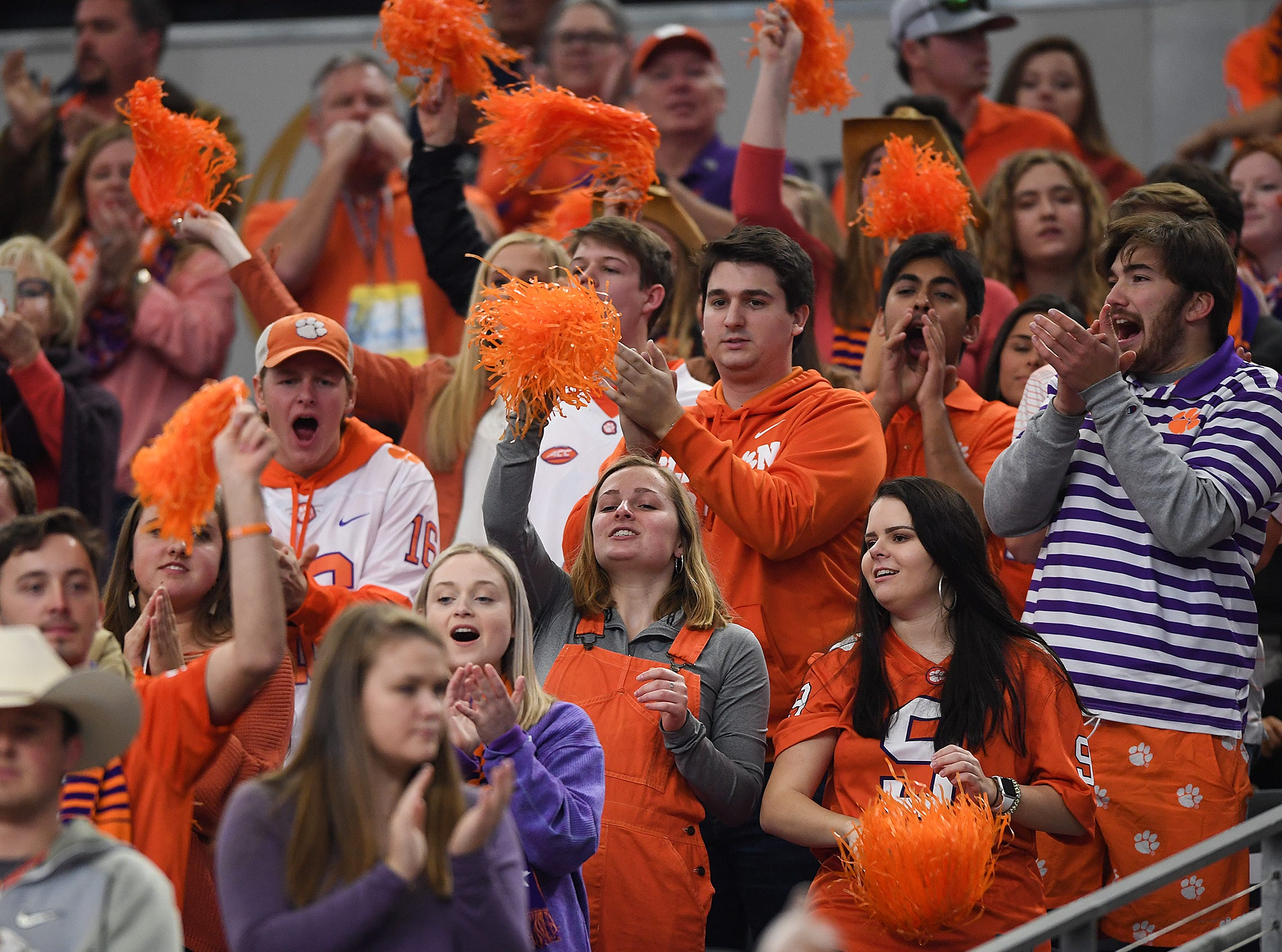 Clemson fans during pregame of the Goodyear Cotton Bowl at AT&T stadium in Arlington, TX Saturday, December 29, 2018.