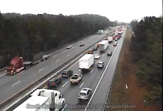 Lanes reopened on I-85 North in Greenville after wreck