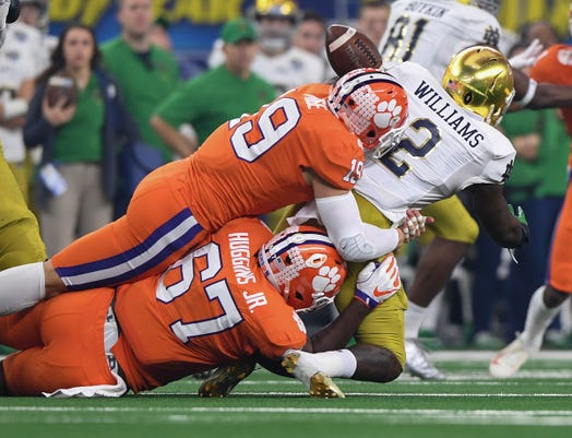Clemson Notre Dame Goodyear Cotton Bowl