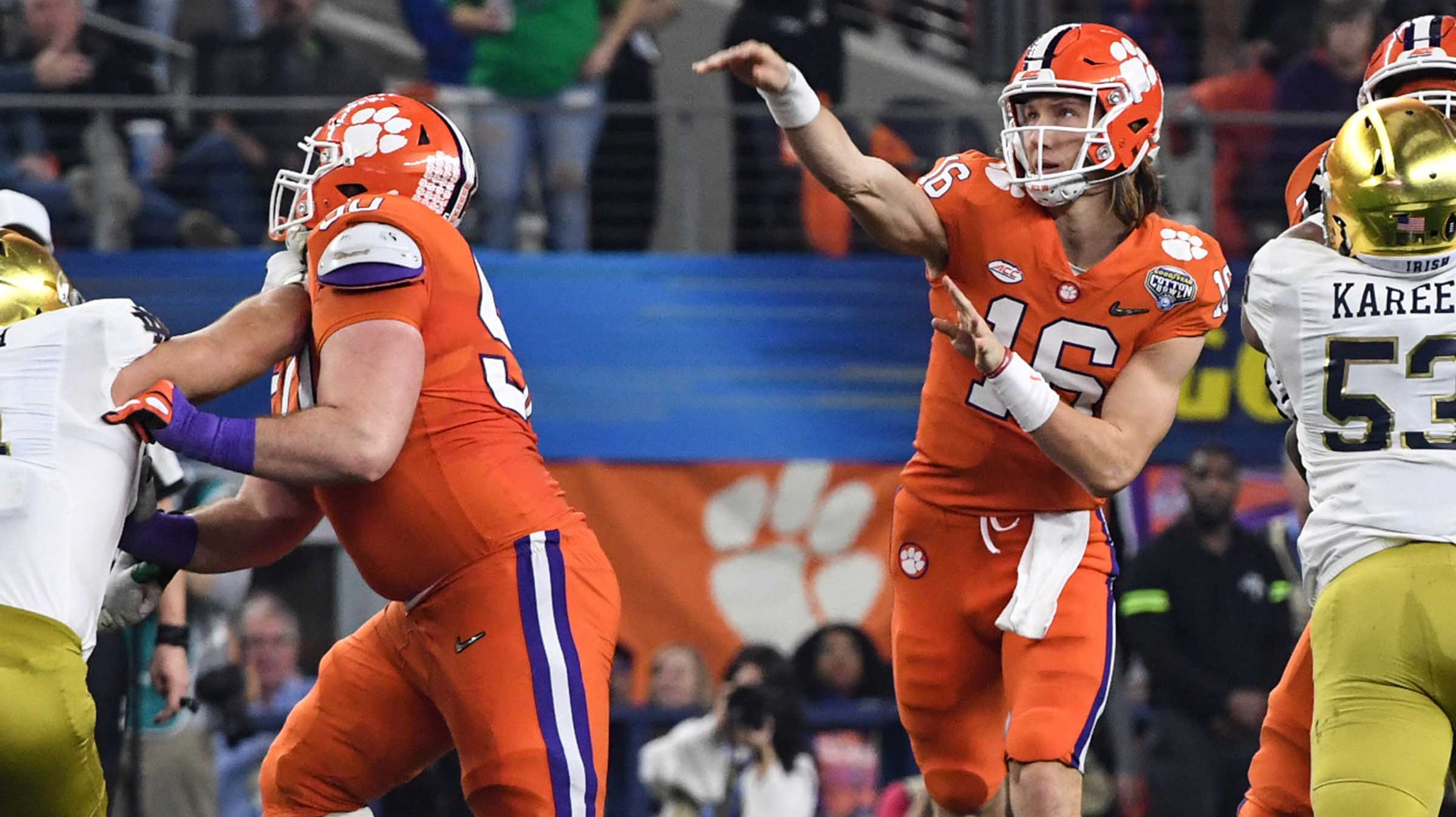 There is a science to Clemson QB Trevor Lawrence's spiral