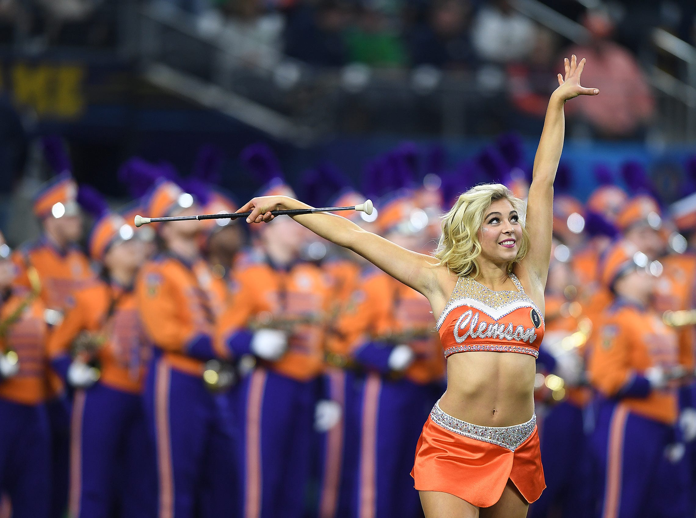Clemson's band during pregame of the Goodyear Cotton Bowl at AT&T stadium in Arlington, TX Saturday, December 29, 2018.