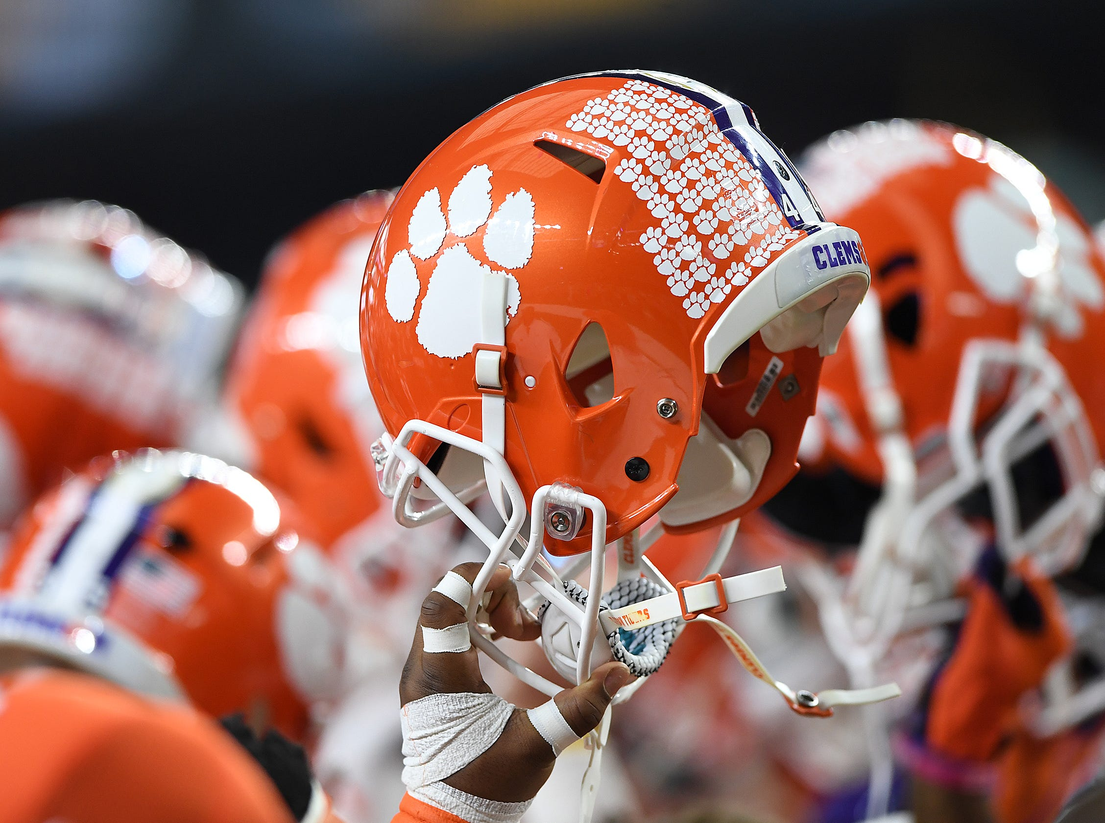 Clemson during pregame of the Goodyear Cotton Bowl at AT&T stadium in Arlington, TX Saturday, December 29, 2018.