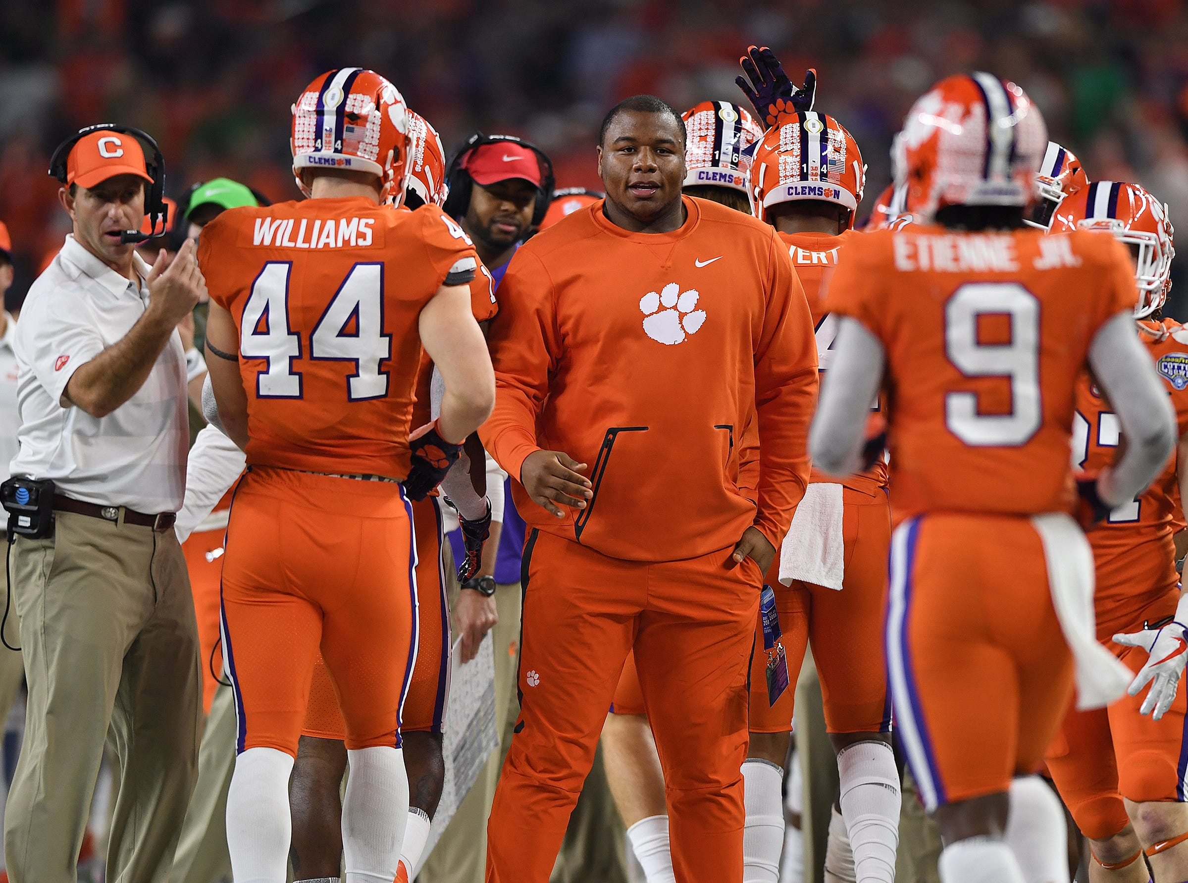 Clemson defensive lineman Dexter Lawrence during the 3rd quarter of the Goodyear Cotton Bowl at AT&T stadium in Arlington, TX Saturday, December 29, 2018.